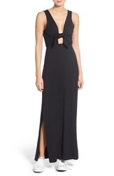 Women's Amour Vert 'Skyy' Tie Front Maxi Dress