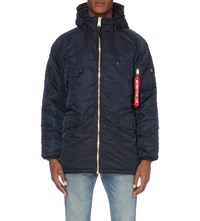 Alpha N3 B Shell Bomber Jacket Repl Blue Ls