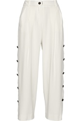 Maiyet Cropped Crepe Wide Leg Pants
