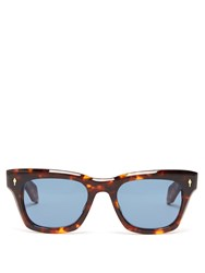 Jacques Marie Mage Delean Tortoiseshell Acetate Sunglasses Brown