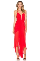 Shona Joy The Conquest Waterfall Dress Red