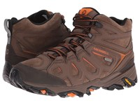 Merrell Moab Fst Leather Mid Waterproof Dark Earth Men's Shoes Brown