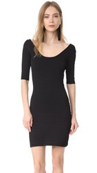 Elizabeth And James Lydia Scoop Back Mini Dress Black