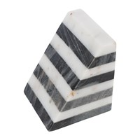 Amara Black And White Striped Marble Bookends Set Of 2