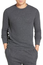 Relwen Raw Hem Crewneck Thermal Gray