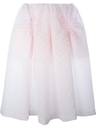 Simone Rocha Cloqua Full Midi Skirt Pink And Purple