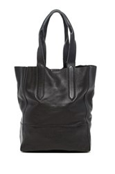 Christopher Kon Unlined Crossbody Leather Tote Black