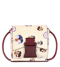 Christopher Kane Bonnie Small Ditsy Pansy Bag Beige
