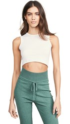 Live The Process Crop Top White