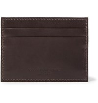 George Cleverley Horween Shell Cordovan Leather Cardholder Dark Brown