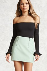 Forever 21 Faux Leather Zip Front Skirt
