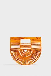 Cult Gaia Ark Mini Acrylic Clutch Orange