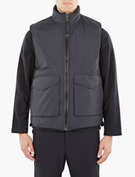 Our Legacy Navy Quilted Gilet Blue