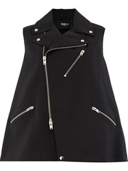 Yang Li Moto Zipped Gilet Black