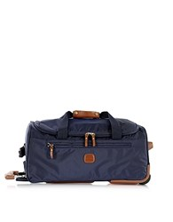 Bric's X Travel Medium Rolling Duffle Bag Blue
