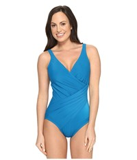 Miraclesuit Must Haves Oceanus One Piece Peacock Women's Swimsuits One Piece Multi