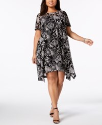Robbie Bee Plus Size Lace Shift Dress Black Ivory
