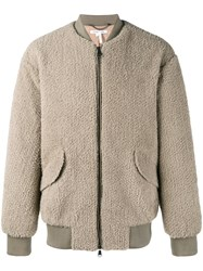 Helmut Lang Shearling Jacket Grey