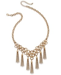 Thalia Sodi Gold Tone Chain Link Fringe Statement Necklace Only At Macy's