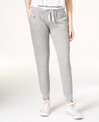 Jessica Simpson The Warm Up Juniors' Varsity Jogger Pants White