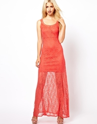 Goldie Lace Dress Coral