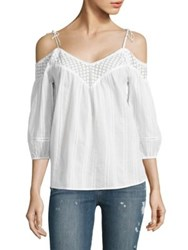Paige Polly Off The Shoulder Blouse White