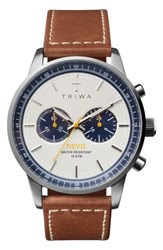 Triwa Ocean Nevil Chronograph Leather Strap Watch 42Mm