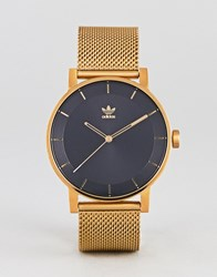 Adidas Z04 District Mesh Watch In Gold