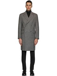 Z Zegna Wool Prince Of Wales Coat Black