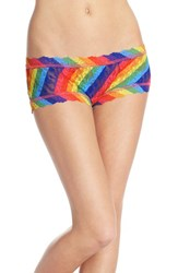 Women's Hanky Panky 'Rainbow Stripe' Lace Boyshorts