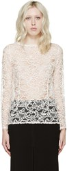 Nina Ricci Cream Lace Cornelly Blouse