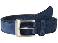 Stacy Adams 32Mm Genuine Suede Leather Blue Men's Belts