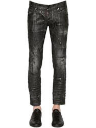Dsquared 16.5Cm Clement Coated Denim Jeans