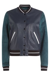 Rag And Bone Rag And Bone Suede And Leather Varsity Jacket Multicolor