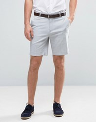 Asos Tailored Slim Shorts In Pale Grey Pale Grey