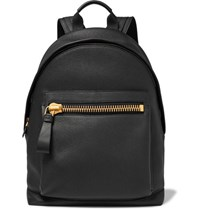 Tom Ford Buckley Grained Leather Backpack Black
