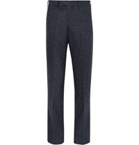 Casely Hayford Basalto Slim Fit Slub Wool Blend Suit Trousers Navy