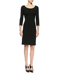 Armani Collezioni Double Face Jersey Sheath Dress Black