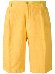 Etro Knee Length Chino Shorts Men Linen Flax 50 Yellow Orange