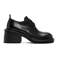 Ann Demeulemeester Black Heeled Lace Up Derbys