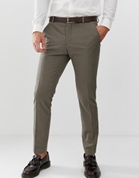 Selected Homme Slim Fit Dog Tooth Suit Trouser Beige