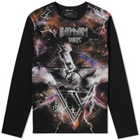 Balmain Long Sleeve Zodiac Print Tee Black