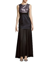 Bcbgmaxazria Jewelneck Sleeveless Gown Black Combo