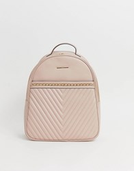 Aldo Quilted Backpack Pink