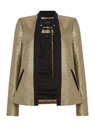 Maison Scotch Tuxedo Party Blazer Gold