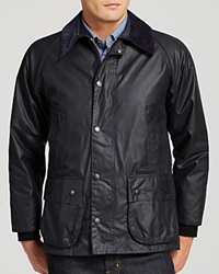 Barbour Classic Bedale Waxed Cotton Coat Navy