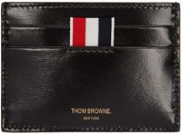 Thom Browne Black Patent Leather Card Holder