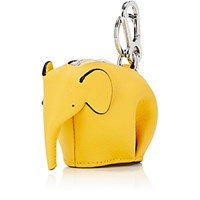 Loewe Women's Elephant Coin Purse Key Chain Yellow