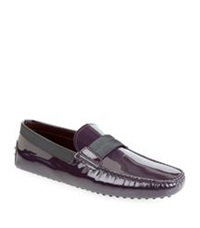 Tod's Evening Gommino Driving Shoe Wine