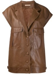 Nehera Lodes Leather Jacket Brown